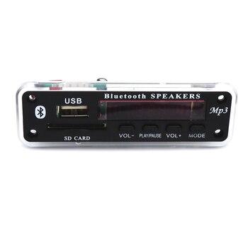 12V Car Bluetooth MP3 WMA Decoder Board Module Support USB SD AUX FM Audio Radio WAV FLAC APE For Car accessories 1