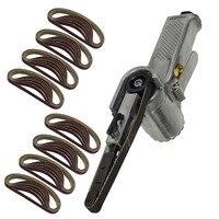 330*10mm Wide Air Finger Belt Sander Power File Detail Sanding + 25*Belts For All Forms Of Metal Polishing