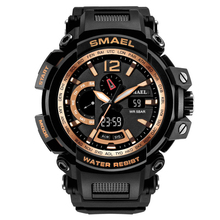 Smael Simaier Watch Motion Outdoors Waterproof More Function Popular Men Electronic creative Watch smael brown