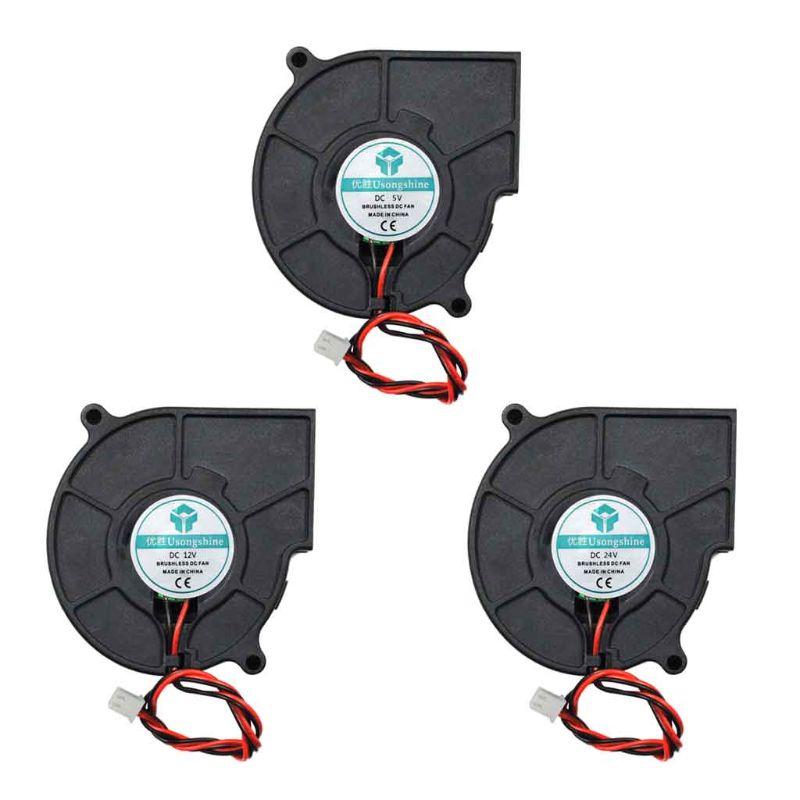 3D Printer Cooling Fan 5015 50x50x15mm Centrifugal Blower Fan 5V 12V 24V 2-Pin Brushless Cooling Cooler Fan