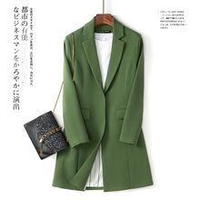Stylish Korean Ladies Blazer Solid Green Loose Casual Suit Jacket Blezer Feminino Vintage Women Blazer Spring Autumn MM60NXZ