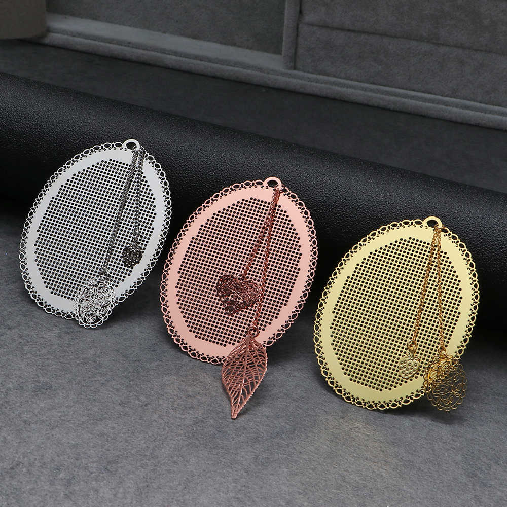 Marque-page en métal bricolage   Mignon hibou papillon, point de croix, signet en argent, couture dorée, broderie artisanat compté, Kit de couture croisée, 1 pièce