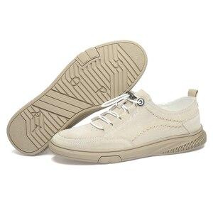 Image 5 - איש נעל זמש עור גברים של נעלי ספורט פנאי נעל הליכה הנעלה גומייה CLAXNEO 2020 אביב סתיו חדש