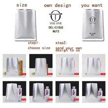 1Pcs Gift bags of high quality aluminum foil bag coffee bean zipper flat heat sealing retail custom logo printing