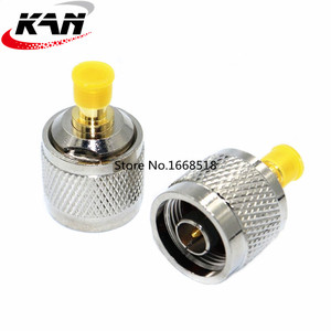 2 Pieces N Type Male Plug to SMA Female Jack RF Coaxial Adapter Coaxial Straight Connector Brass