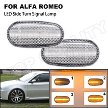 2 Stuks Fout Gratis Pijl Led Licht Lamp Side Marker Turn Signal Led Voor Fiat Bravo 07-14 Alfa romeo 147 Gt 01-10 Mito 08-18