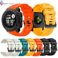 22mm Sport Uhr Silikon Band Armband Strap für Garmin Instinct Strap Ersatz Armband Strap Smart Handgelenk Band Strap
