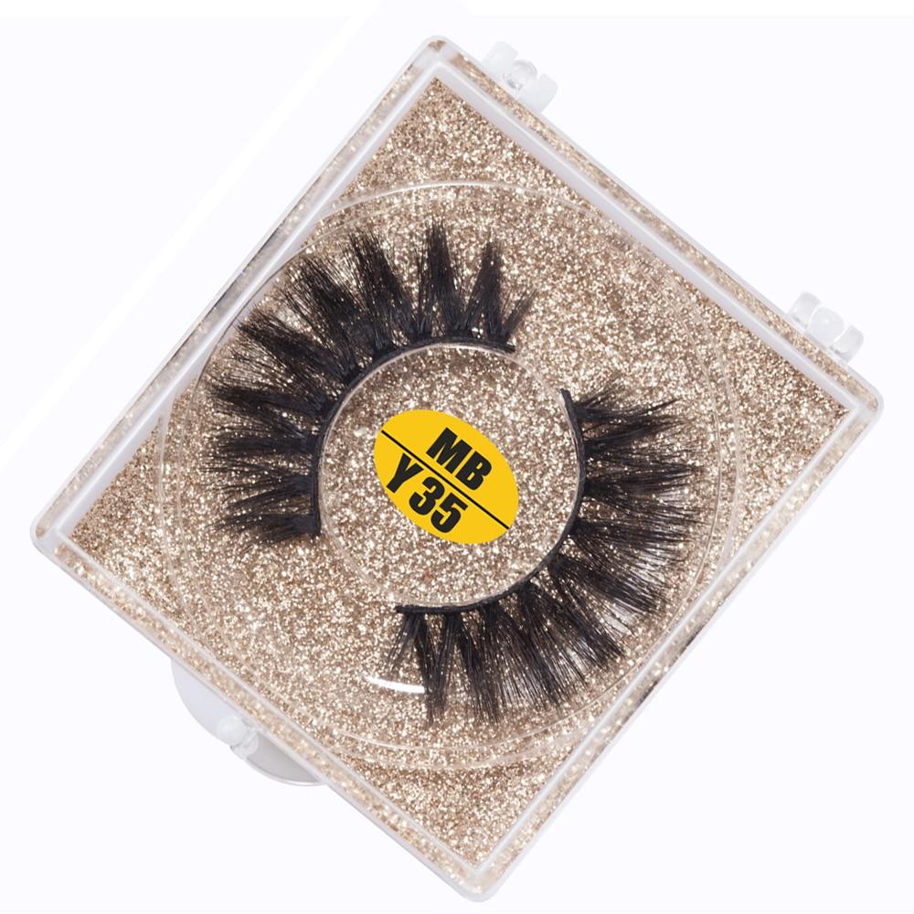 MB New 1 Pairs Natural False Eyelashes Fake Lashes Long Makeup 3d Mink Lashes Extension Eyelash Mink Eyelashes MB-Y