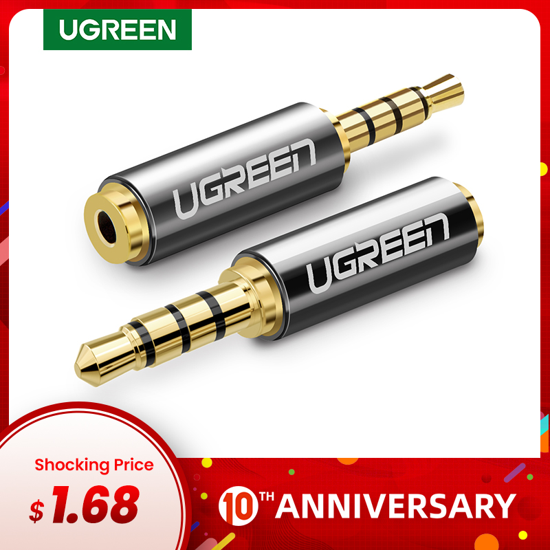 Ugreen Jack 3.5 Mm To 2.5 Mm Audio Adapter 2.5mm Male To 3.5mm Female Plug Connector For Aux Speaker Cable Headphone Jack 3.5