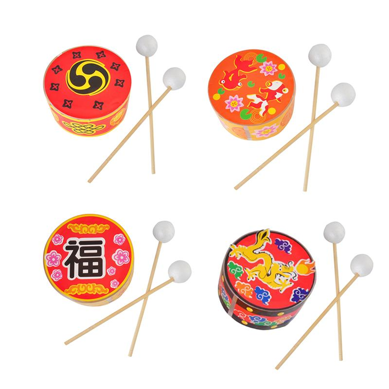 4pcs Decorative Adhesive DIY Delicate Chinese Drum Materials For Office Home