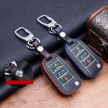 Ручное шитье кожаный чехол для автомобильных ключей, чехол для Peugeot 107 206 207 208 306 307 301 308S 407 2008 3008 4008 5008 RCZ для Citroen C2 C3C4C5
