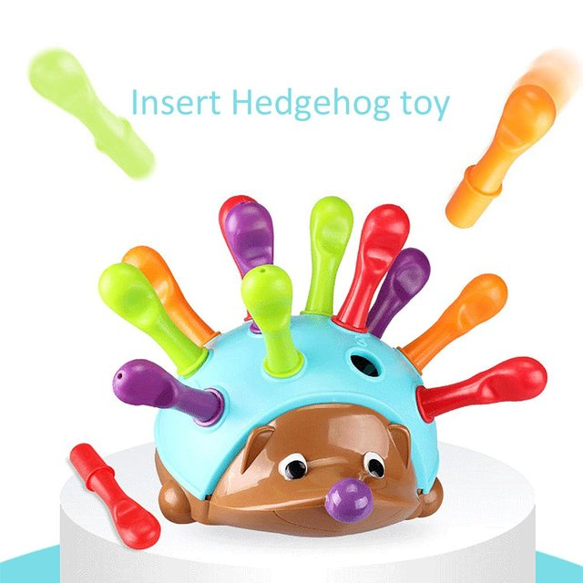 Training Focused on Children's Fine Motor Hand-Eye Coordination Fight Inserted Hedgehog Baby Educational Toy 1