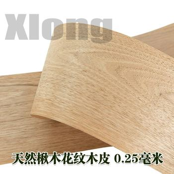 2pcs L:2.5Meters Width:190mmThickness:0.3mm Catalpa Patterned Bark Imported Solid Wood High Quality