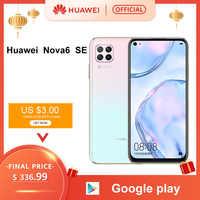 Smartphone d'origine Huawei Nova 6SE 6 SE 8GB 128GB 48MP AI caméras 16MP caméra frontale 6.4 ''écran FHD Kirin 810 EMUI 10