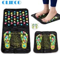 OLIECO, обновленный китайский Массажный коврик для ног, китайский медицинский рефлексологический коврик для снятия боли с камня