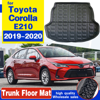 For Toyota Corolla 4 door Sedan Saloon E210 2019 2020 Car Cargo Boot Liner Tray Rear Trunk Floor Mat Carpet Accessories image