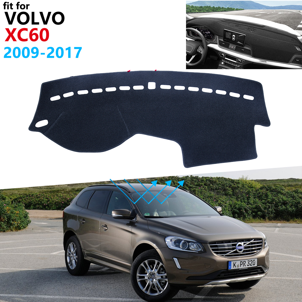 Dashboard Cover Protective Pad for <font><b>VOLVO</b></font> <font><b>XC60</b></font> 2009~2017 Car <font><b>Accessories</b></font> Sunshad Carpet 2010 2011 <font><b>2012</b></font> 2013 2014 2015 2016 Rug image