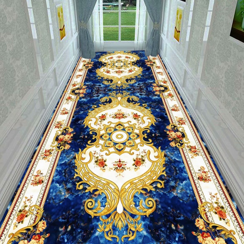 European Style Long Carpet For Stairway Hallway Carpets Nordic Home Corridor Carpets Aisle Rug Party Wedding Red Area Rugs