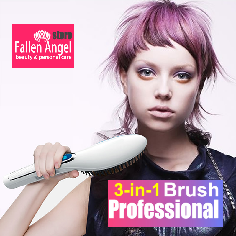 New Ionic Hair Straightener Brush Hair Electric Brush Comb Irons Straight Hair Comb Brush Hair Straightener Curler Styling Tool