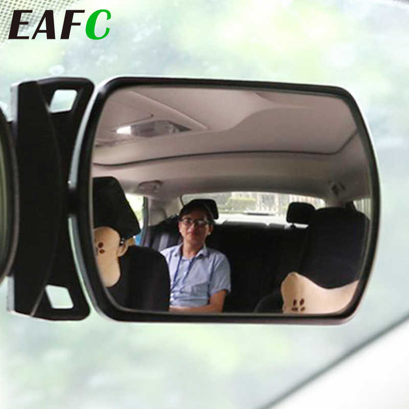 Car Small Clip-On Adjustable Facing Back Rear View Seat Convex Mirror Clip on Car or Truck Sun Visor Automotive Interior Rearview Baby Mirror