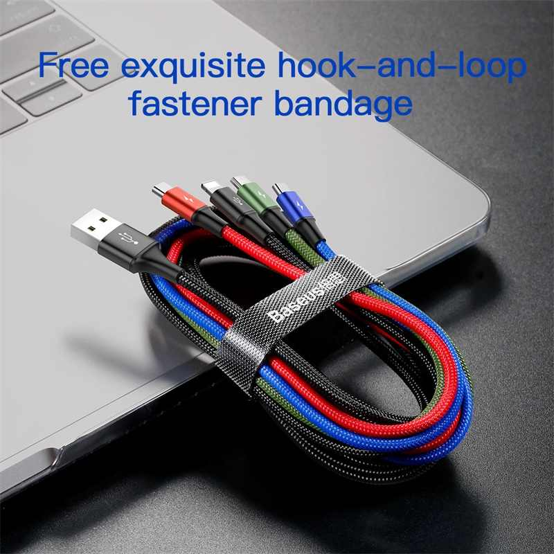 Baseus USB نوع C كابل آيفون 11 XR كابل الشاحن 3 في 1 كابل يو اس بي USB C لسامسونج S10 هواوي P30 ماتي 30 المصغّر USB كابل