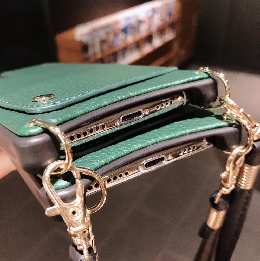 H1519502729e34083a81898201c0b82bcu Credit Card Leather Wallet Strap Crossbody Long Chain Phone Case for Iphone 11 pro XR XS Max 6S 8 7 plus luxury Back cover coque