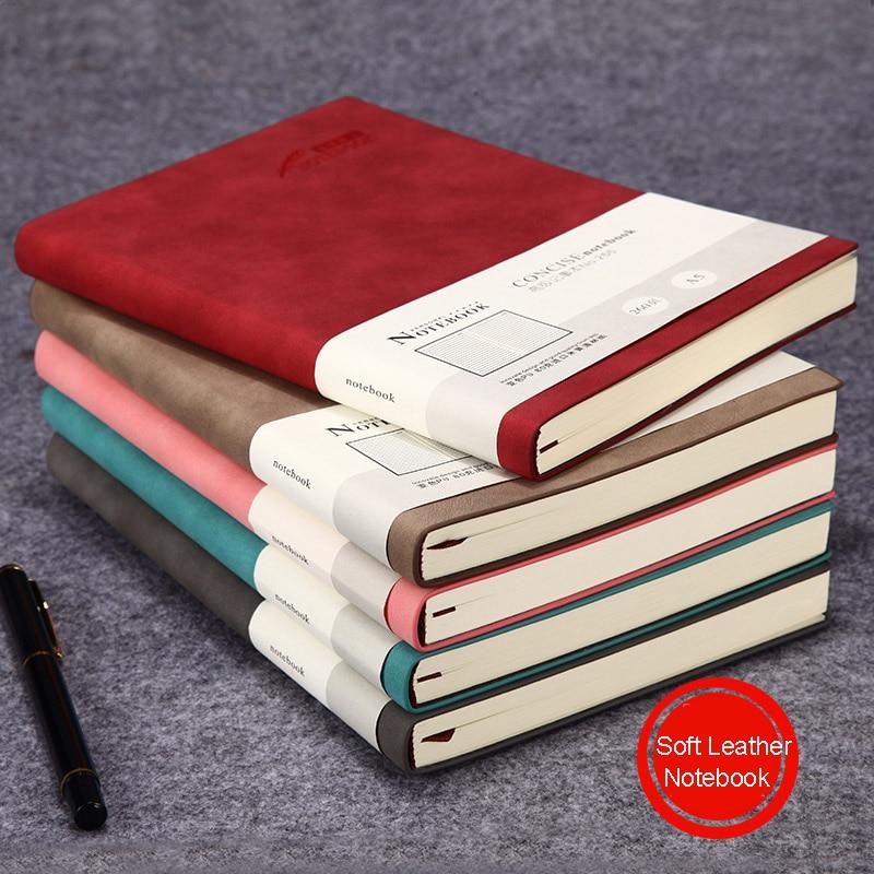 A5 Funda de cuero suave Biblia Bloc de notas Linda Agenda 2019 planificador de 2020 semanas los viajes cuaderno Simple estudiante suministros escolares