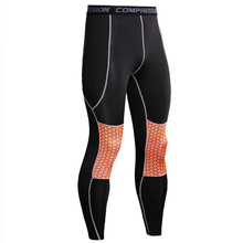 Men's Bodyboulding Tights Running Compression Pants Men Jogging Fitness Skinny Leggings Yoga Long Trousers Sports Wear