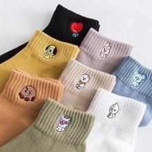 New Fashion Women Short Socks Slippers Cotton Cartoon Socks Harajuku Korean Style Spring Winter Socks Cute For Girls Female