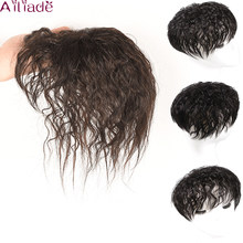 AILIADE Human Hair Topper Wig with bangs Increase the amount of hair on the top of the head to cover the white hair Hairpiece(China)