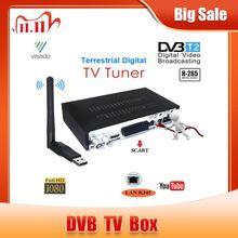 أحدث DVB T2 استقبال رقمي يدعم FTA H.265/ HEVC dvb t h265 hevc dvb t2 رائجة البيع أوروبا روسيا التشيك ألمانيا