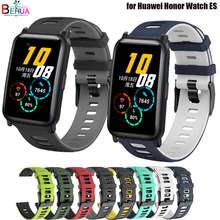 Correa deportiva de silicona para Huawei Honor Watch ES, Correa de 20mm para haylou solar ls02
