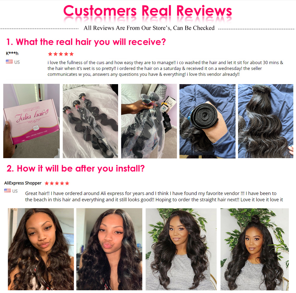 Brazilian Body Wave Hair Bundles 8-30 Inches 100% Human Hair Weave 1 3 4 Bundles Natural Color Remy Hair Extensions High Ratio (1)