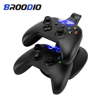 цена на For Xbox one Gamepad Controller Charger Dual LED Light USB Dock Station Base For Xbox one Games Controller Charging Stand Dock