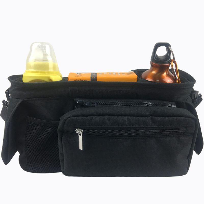 Stroller Organizer Pram Bag Organiser Multifunctional Baby Pram Buggy Storage Bag With Detachable Pocket