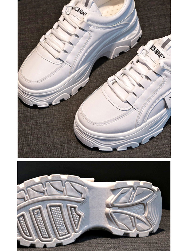 Autumn New Korean Style Women Shoes Casual Platform Solid Color Sneakers Women Casual Shoes Sneakers Zapatos De Mujer VT762 (1)