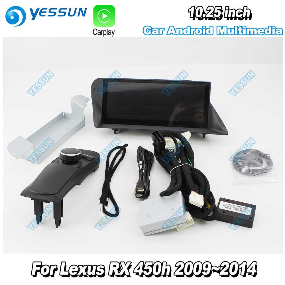 Dla Lexus RX450h RX 450h 2009 2010 2011 ~ 2014 AL10 samochód Android multimedia Carplay mapy GPS odtwarzacz nawigacyjny radio wifi DVD CD