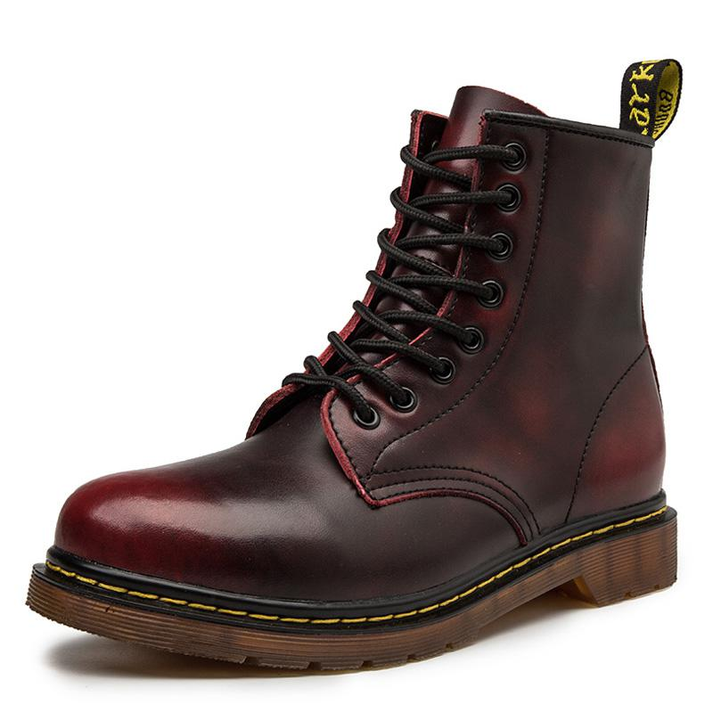 2020 Winter Autumn Retro Martens Shoes Motorcycle Women Ankle Boot Oxfords Shoes Dr Botas Mujer Boots Couple Boots Leather 35-48