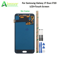 Alesser para Samsung Galaxy J7 Duo 2018 J720 J720F J720M pantalla LCD y pantalla táctil digitalizador Ajustar brillo + herramientas