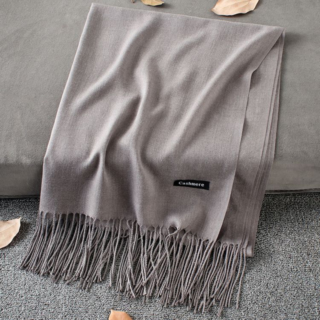 Soft Cashmere New Solid Color Wraps Thin Long Scarf