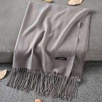 Soft Cashmere Scarves Women 2019 Autumn New Solid Color Wraps Thin Long Scarf with Tassel Casual Lady Winter Female Shawl
