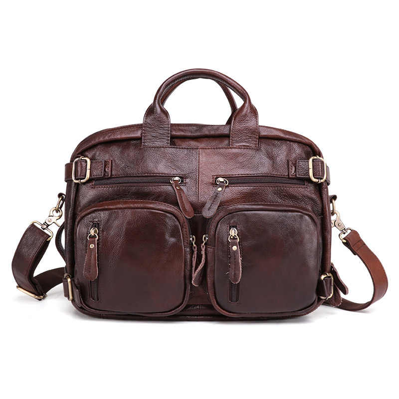 Men's Leather Bag Men's Briefcase Office Bags For Men Bag Man's Genuine Leather Laptop Bags Male Tote Briefcase Handbag