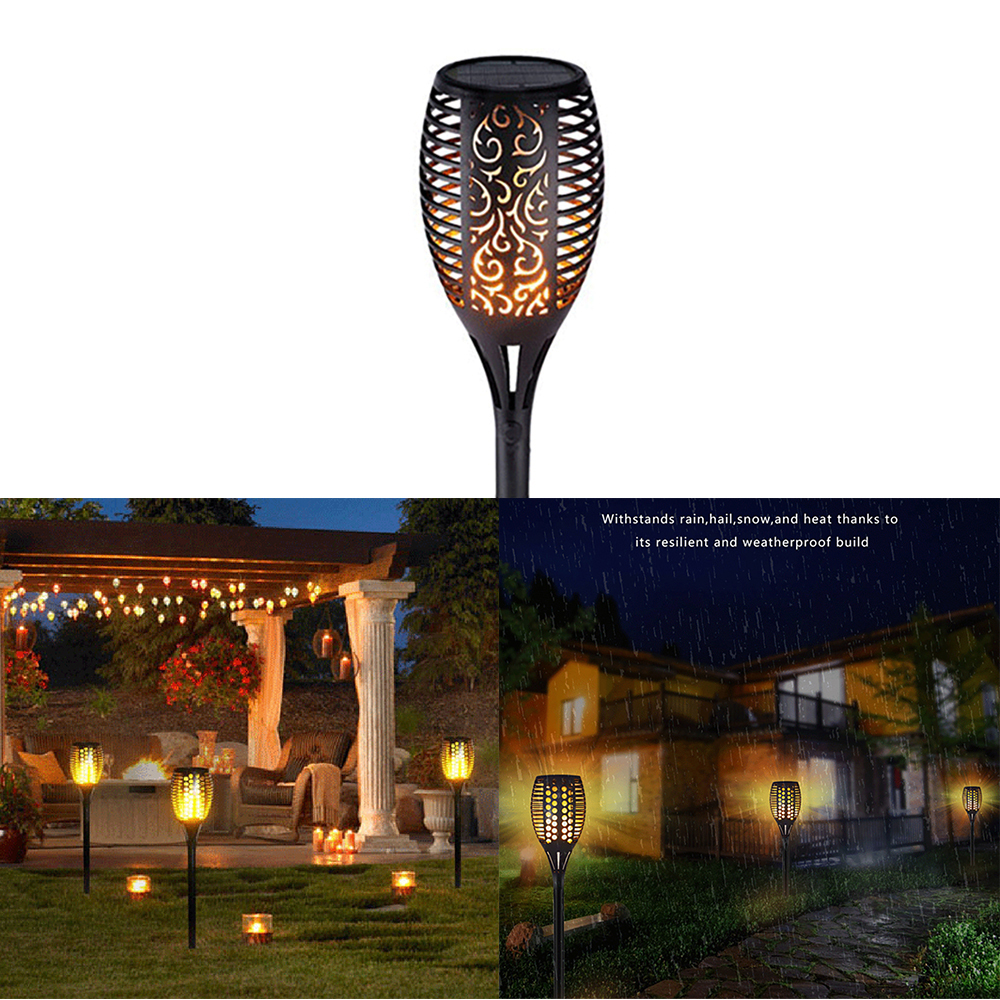 Lampu Taman Led Solar Api Lampu Lampu Berkedip Tahan Air Dekorasi Taman Pemandangan Rumput Lampu Jalan Lampu Obor Outdoor Spotlight Lampu Surya Aliexpress