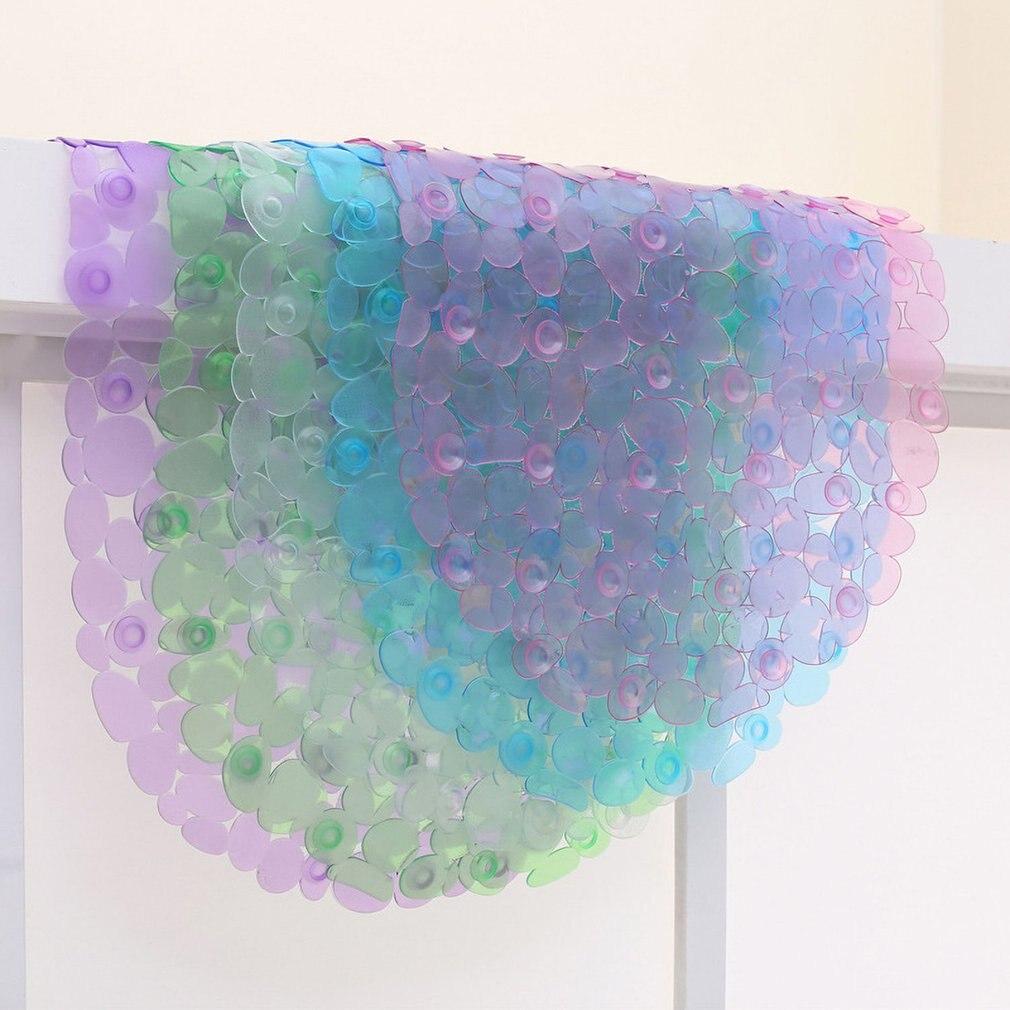 Non-Slip Bathmat Bathroom Shower Pad PVC Pebble Suction Cup Bathtub Mat