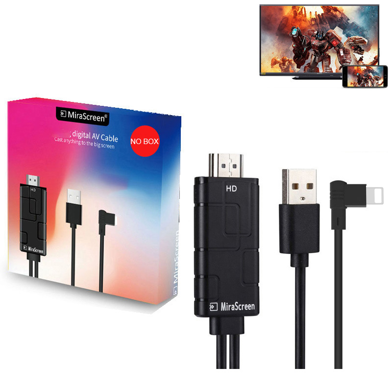 IOS Phone To HDMI TV AV Cable Video Adapter Converter For IPhone X XS MAX XR 7 8 Plus 6S 6 5S IPAD Screen Mirror To TV Projector