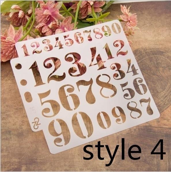 13*13cm 5 Inch Digit Number 0-9 Practice DIY Layers Scrapbook Coloring Engraving Album Decorative Painting Template Stencils