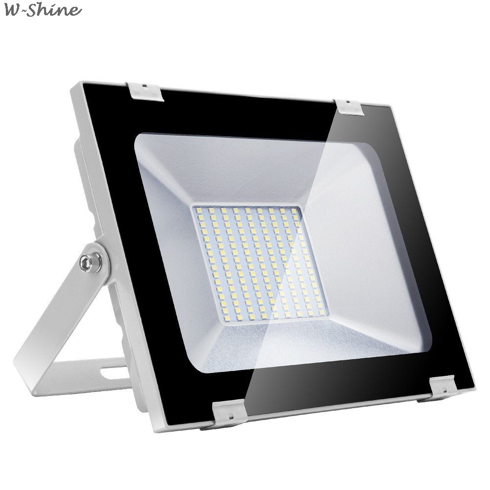 100W LED Floodlight Reflector LED Flood Light Waterproof IP65 Spotlight Wall Outdoor Lighting Cold White Flood Light
