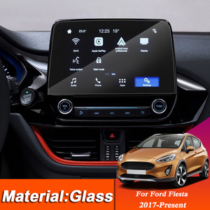 Автомобильный Стайлинг приборной панели GPS навигационный экран Стеклянная защитная пленка наклейка для Ford Fiesta 2017-настоящее управление ЖК-э...
