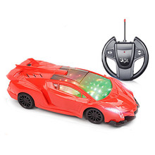 RC Car Toy Led Light Electric Robot Sports Racing Car Models Birthday Gifts for Boys 4CH 22cm 2.4G Luxury Toy(China)