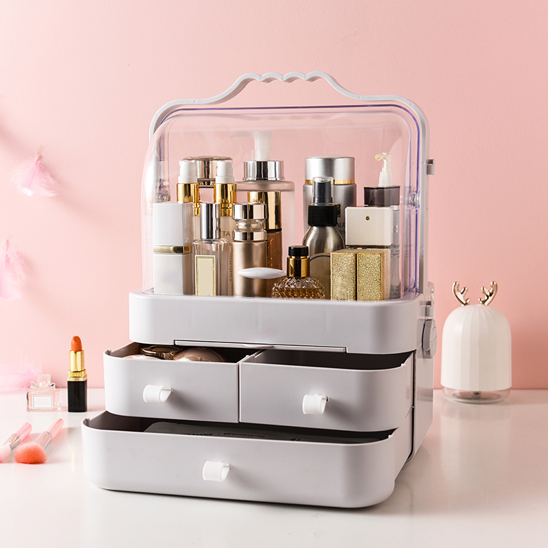 Makeup Organizers Portable Cosmetics Storage Box Waterproof Drawer Makeup Case Storage Wash Toiletries For Travel Home Bathroom